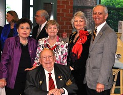 New Bern Rotarian's Joe & Joe Malone attended the gala with Sheila & Gene Hirsch hosting them.