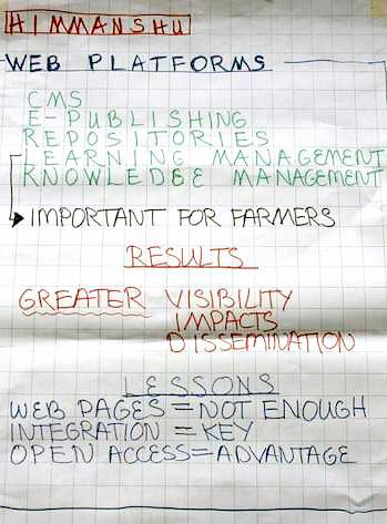 ICAR-ILRI Communications Workshop_Theme 1_Chart Writing_Web Platforms