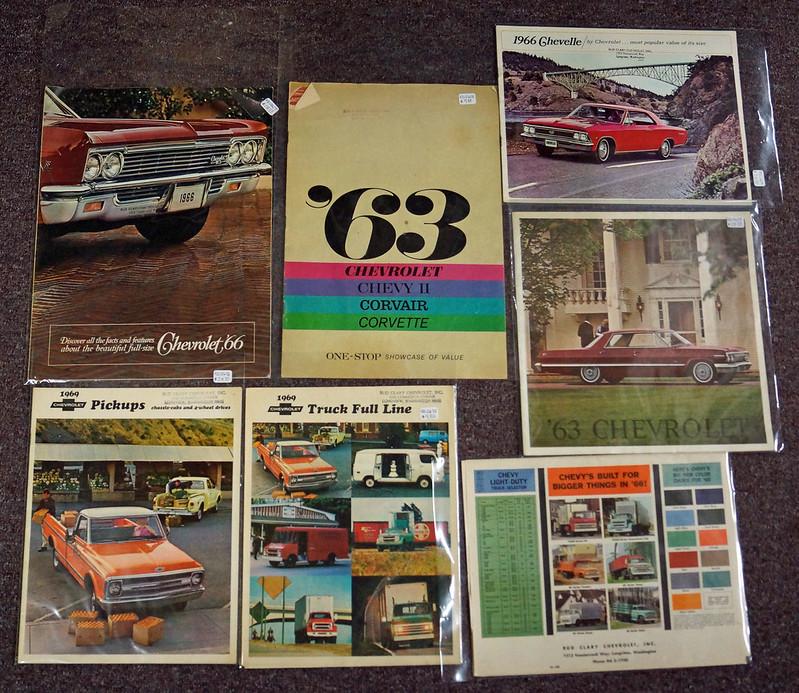 Chevrolet Bud Clary Stamped Original Dealer Brochures for 1960