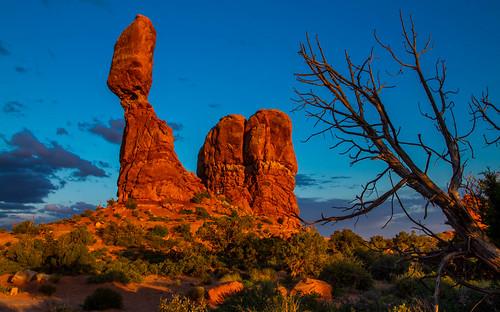 sunset nature landscape rocks desert archesnationalpark usnationalparks