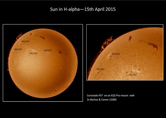 Sun in H-alpha 15/04/15