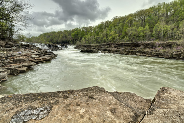 Great Falls, Caney Fork River, Rock Island State Park, White County, Tennessee