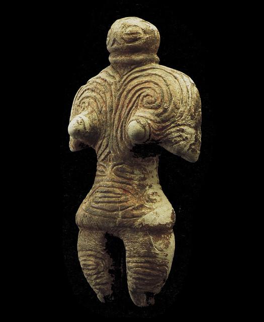 赤彩岩偶 Red Colored Gangū (stone figurine)