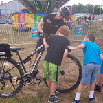 June 8, 2016 - 08:50 - Bedford County Sheriff's Office newly launched 'Rural Bike Patrol' first utilized at the County Fair, gained much interest from the kids! Community policing at its finest!   Credit: Bedford County Sheriff's Office, VA