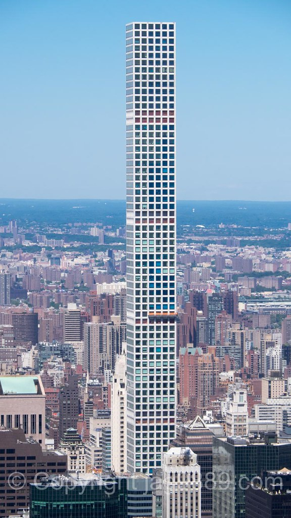 Super-Tall, Pencil-Thin 432 Park Avenue Condo Tower, Midto