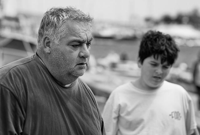 Fisherman and his son --- Trani - Puglia - Italia