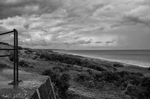 Omaha Beach - view from WN62 over Easy Red towards west