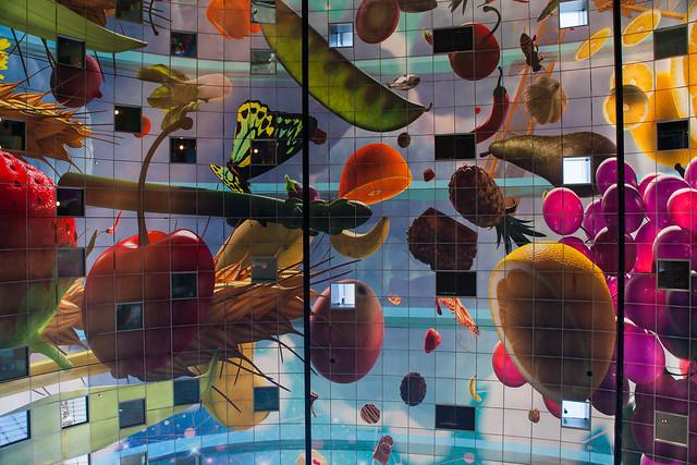 Ceiling. Blaak Maarkt, Rotterdam.