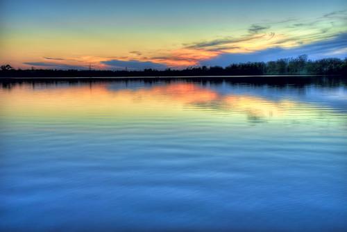 blue sunset red lake clouds reflections sony peaceful calm ripples hdr a7ii redrivernationalwildliferefuge sonya7ii