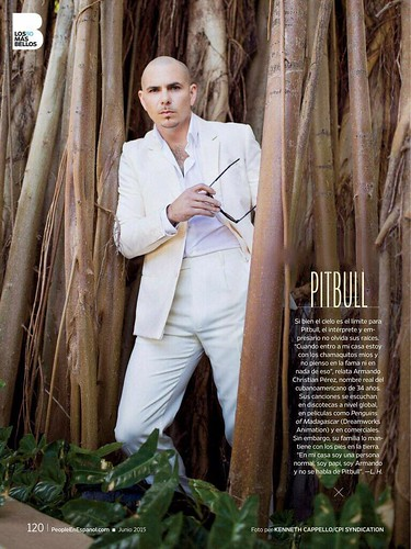 Pitbull in People En Español - Los 50 Mas Bellos - June 2015PHOTO IS NOT MINE.I DO NOT OWN ANY RIGHTS TO THIS IMAGE.ALL RIGHTS GO TO OWNER/PHOTOGRAPHER.   by pitbullupdates