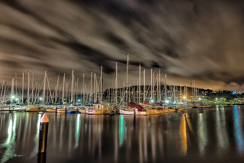 tasmania australia hobart bellerive belleriveyachtclub night nightphoto nightphotography tassie cloud reflection color colour canon markbimagery longexposure travel holiday vacation clouds landscape waterway yachts