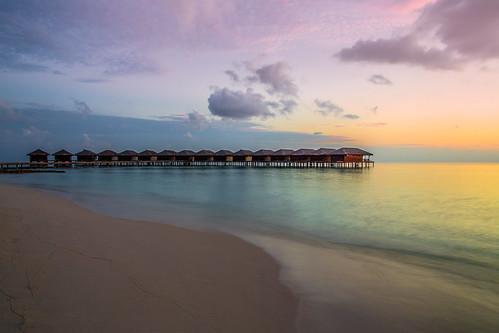 ocean longexposure sunset red sea sky sun color beach water clouds sunrise canon colorful asia purple indianocean wave dslr maldives maldivian sirui 5dmarkiii