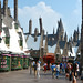 Zonko's and Honeydukes, with Three Broomsticks and Hogsmeade Station