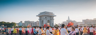 Pyongyang City Mass Dancing Celebration | by reubenteo
