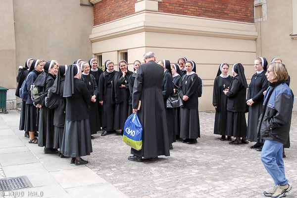 Nuns in the street in Krakow