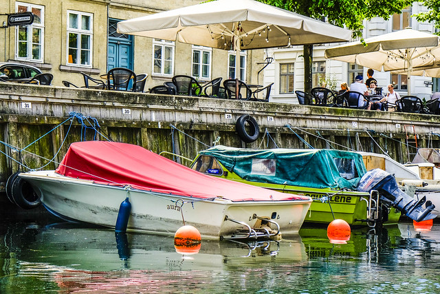 Small boats in Christianshavn Copenhagen