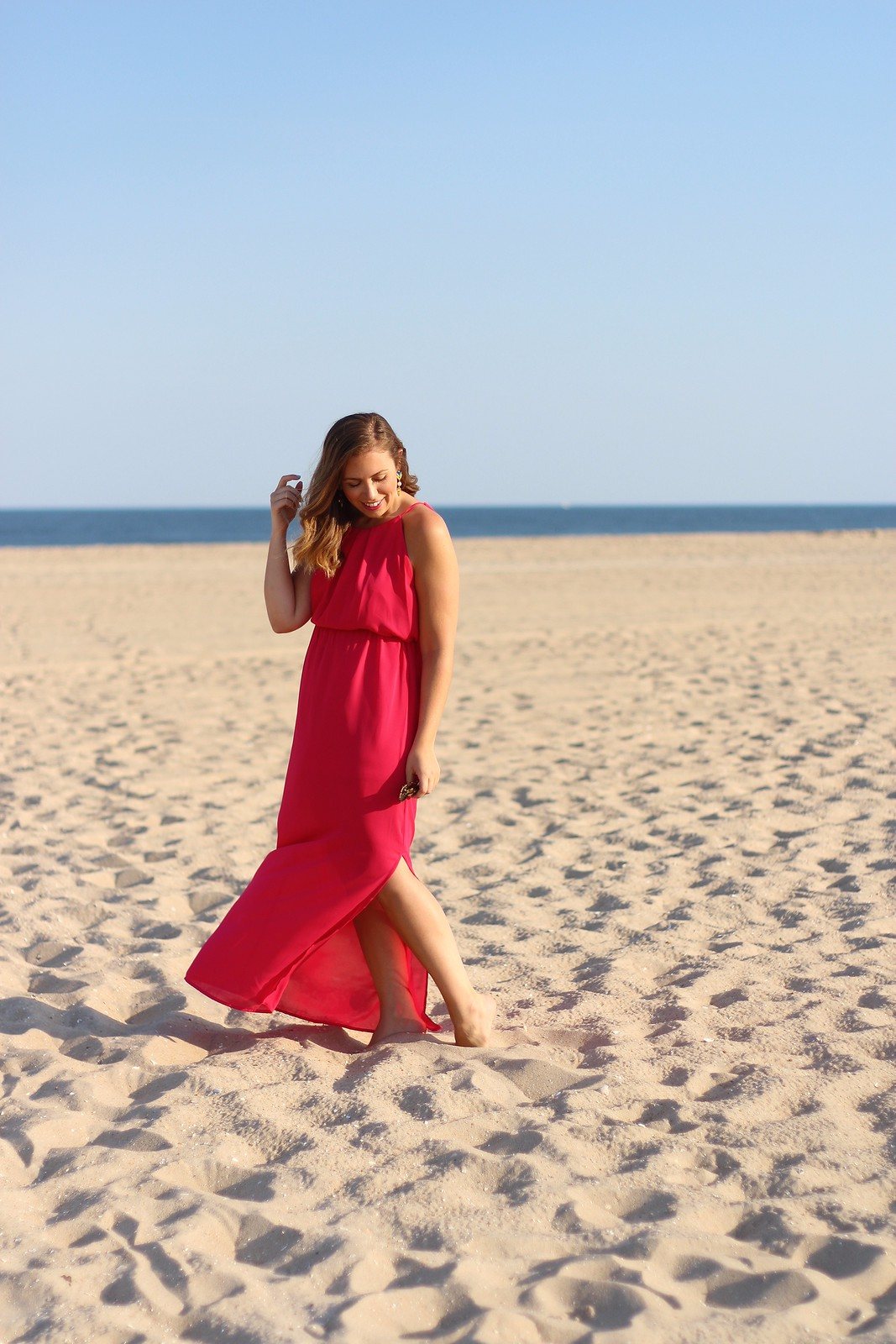 Pink Maxi Dress on Long Beach Island LBI | A Look Back at 10 Years of Blogging Living After Midnite Blogger Jackie Giardina