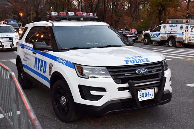 Picture Of Newly Redesigned 2016 Ford Explorer Police Interceptor Utility – NYPD Car #5504-16 Assigned To The Emergency Services Unit (ESU) K-9 Unit. This Picture Was Taken In Manhattan. Photo Taken Wednesday November 25, 2015