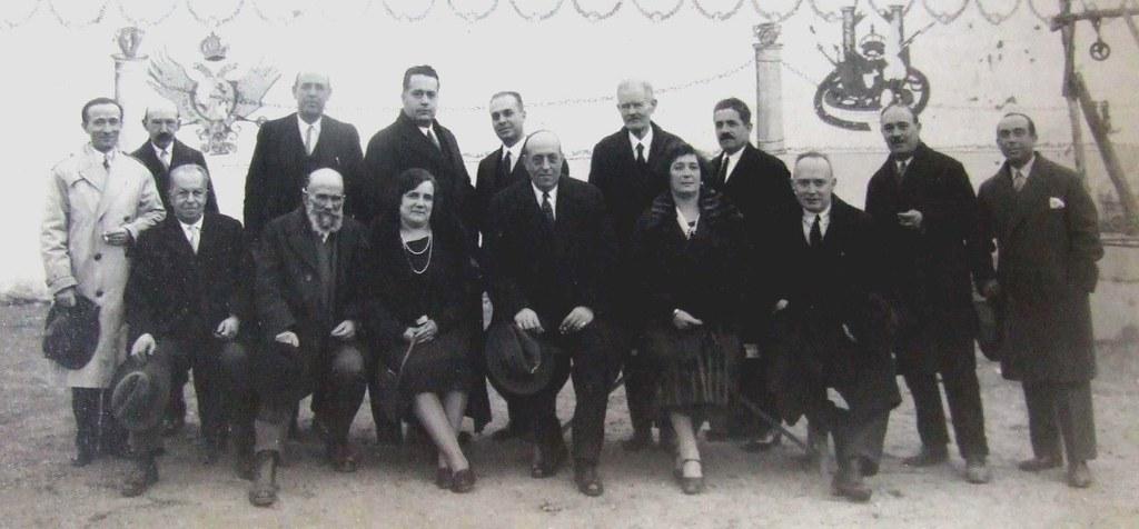 profesores de la  Escuela de Artes, entre ellos Pedro Román y Julio Pascual