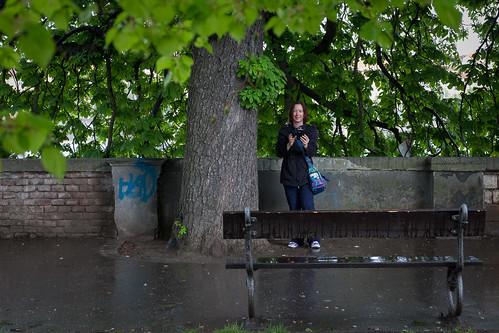 Sadetta pitelemässä