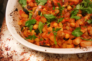 Oven-Baked Indian vegetables with chickpeas | by rachelakelso
