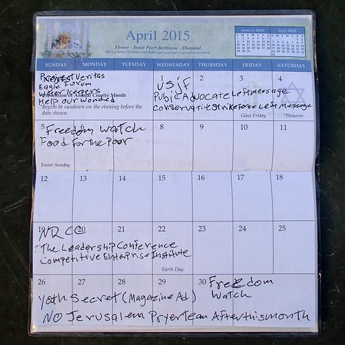 April Calendar | by Judith E. Bell