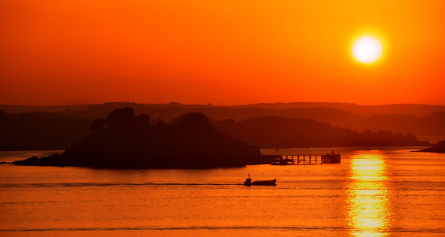 Sunset over Plymouth Sound
