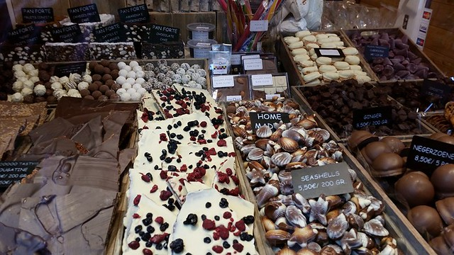 Chocolate shop in Bruges, Belgium