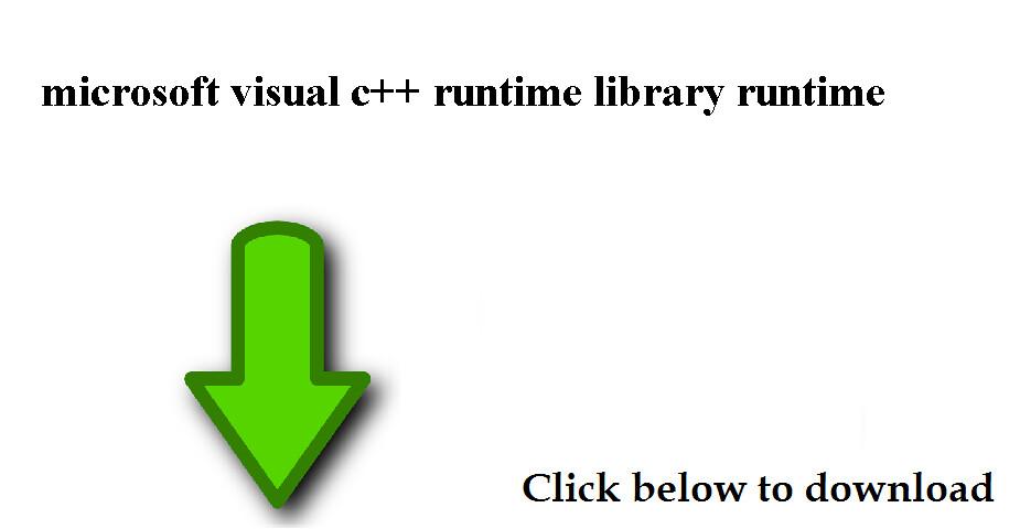 microsoft visual c++ runtime error download