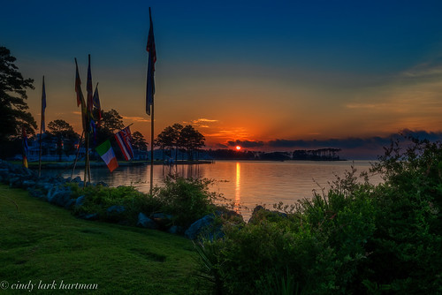 sky orange sunrise river outdoor northcarolina oriental pamlicocounty neuse onc