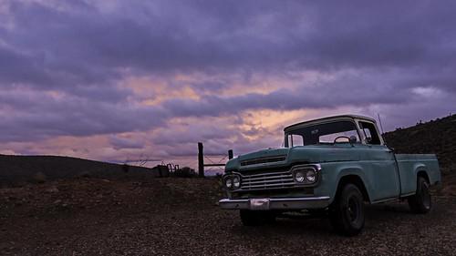 america canon1635mmf4islens mojavedesert nevada redrockcanyon usa canon5dmarkiii earth landscape nearlasvegas sky sunset wideangle truck