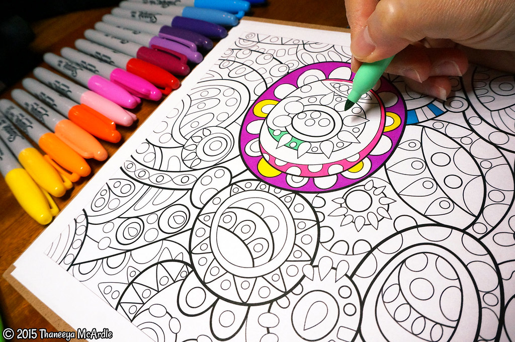 Groovy Abstract Coloring Book Art By Thaneeya McArdle Flickr