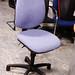 Light blue swivel chair