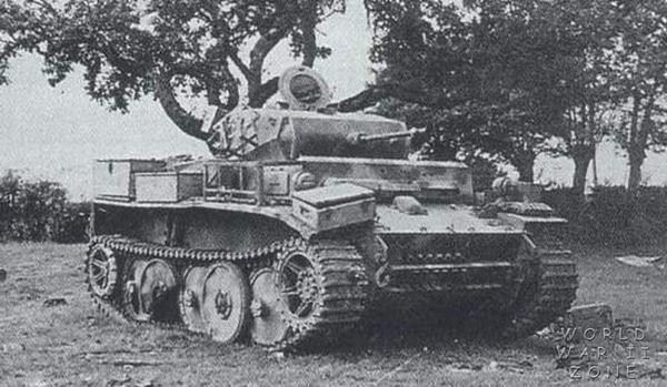 """Disabled Panzerkampfwagen II Ausf. L """"Luchs"""""""