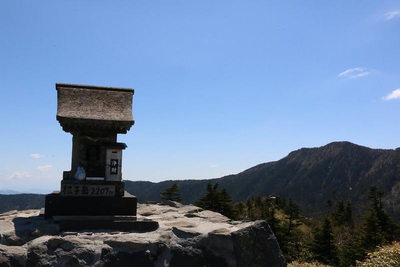 根子岳の山頂