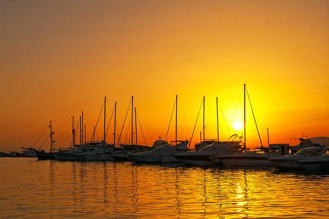 At sunset summer