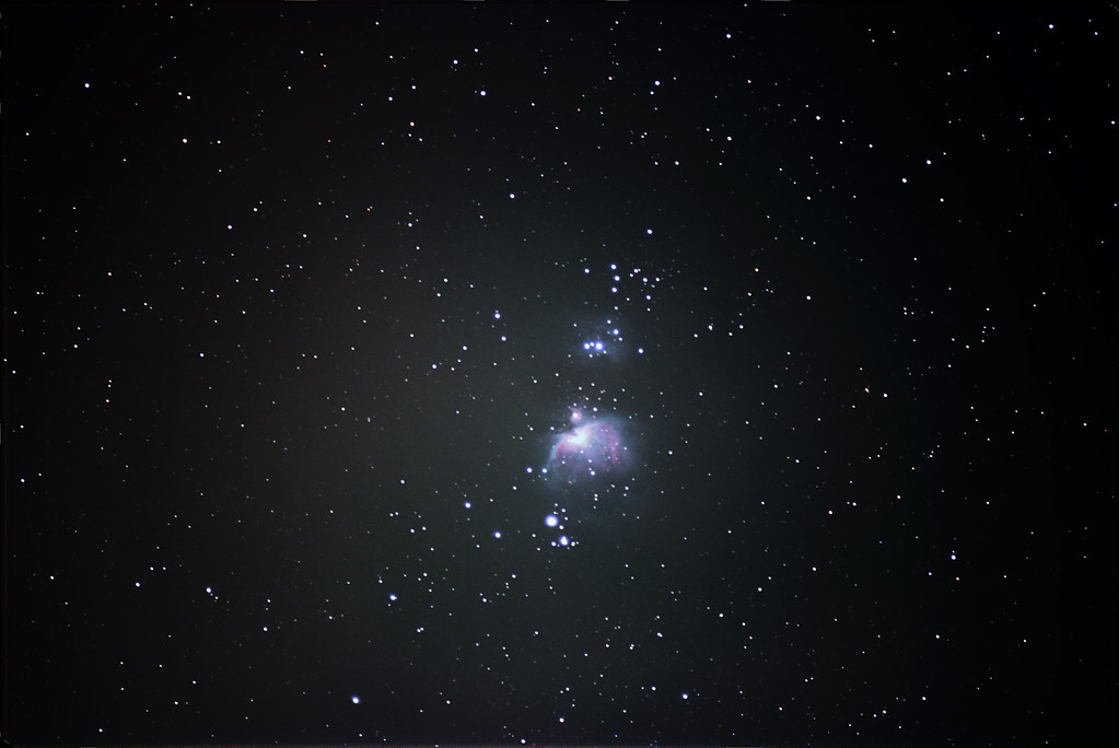 Orion Nebula With Diy Barn Door Tracker My First Try At Th