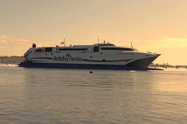 Brittany Ferries Normandie Express passing Brownsea Island