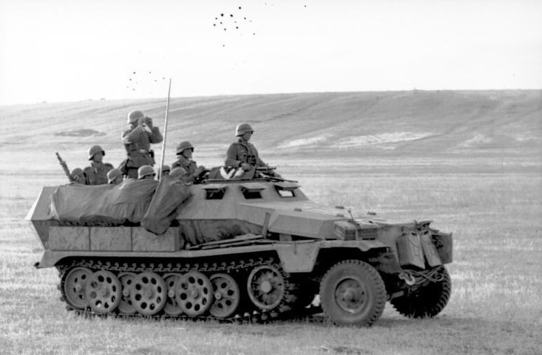 a SdKfz. 251 halftrack vehicle
