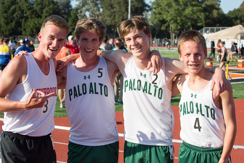 Justin and the Paly Distance Runners