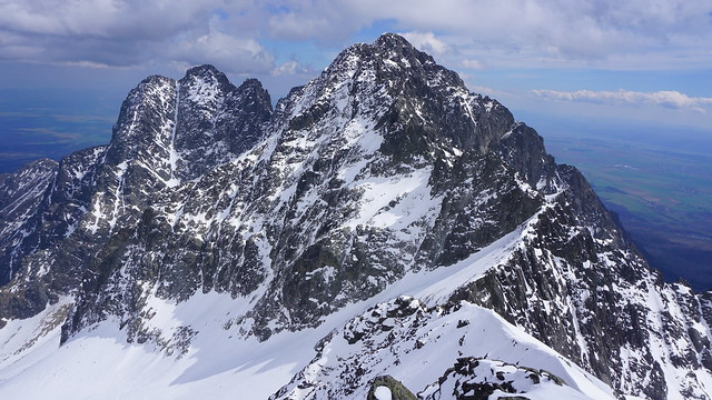 49 Kežmarske and Pyšne Peaks - view from summit Baranie Rohy, Tatra Mountains, Slovakia