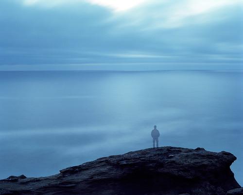 ocean longexposure selfportrait film oregon analog mediumformat landscape twilight dusk horizon pacificocean pacificnorthwest oregoncoast 6x7 westcoast capekiwanda pentax6x7 filmisnotdead