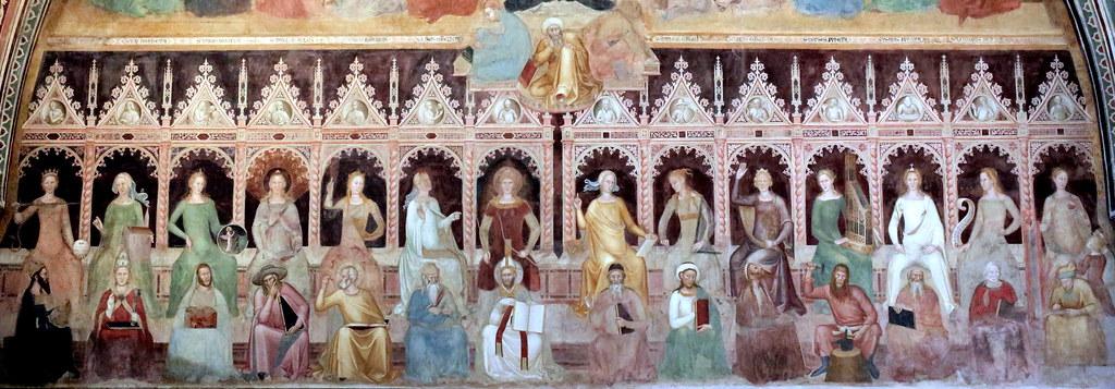 IMG_2225DBB Florence. Santa Maria Novella. Cappellone di Spagnoli. Spanish Chapel. Talenti architect. 1359. Frescoes Andrea Di Bonaiuto (Andrea Da Firenze) active in Florence from 1343 to 1377.