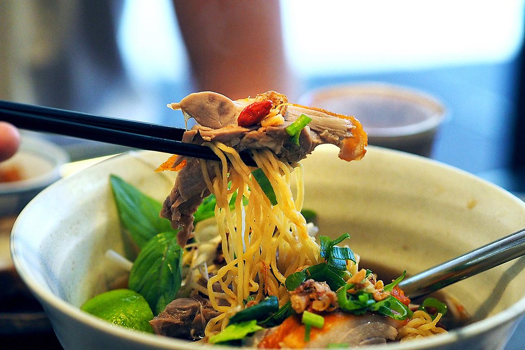 Get a wholesome bite of this amazing Duck Noodle of Thailand. Source: Flickr