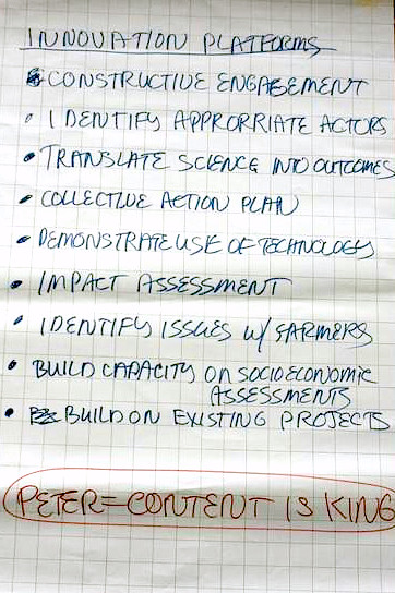ICAR-ILRI Communications Workshop_Theme 1_Chart Writing_Innovation Platforms