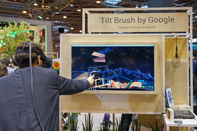 Tilt Brush de Google (Salon Viva Technology, Paris)