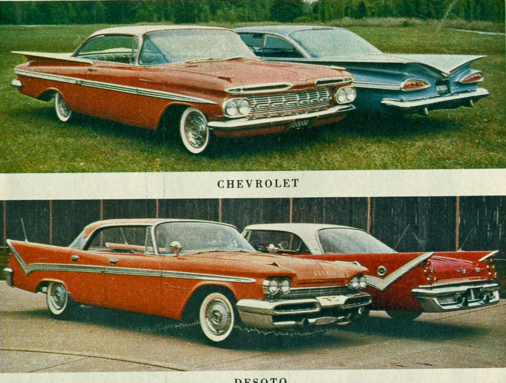 1959 Chevrolet Impala Sport Coupe And Desoto Fireflite 4 D