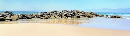 california panorama beach water sand rocks panoramic venicebeach breakwater waterpictorial joelach