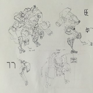 Drawing board for the next mech | by Messymaru