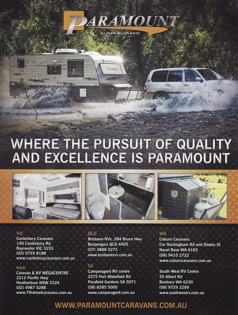 2015 Paramount Caravan Ad - Australia | Covers the 2015 Para